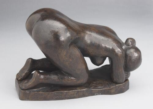 Crouched Bather, Head Lowered