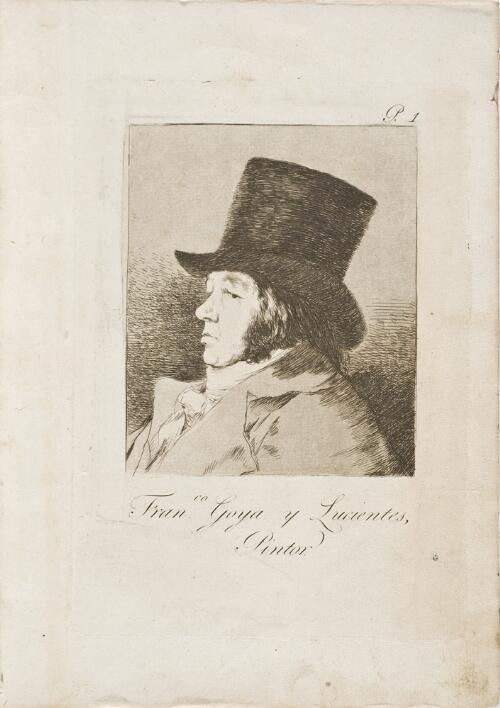 Caprichos: Fran.co Goya y Lucientes, Painter (Fran.co Goya y Lucientes, Pintor)