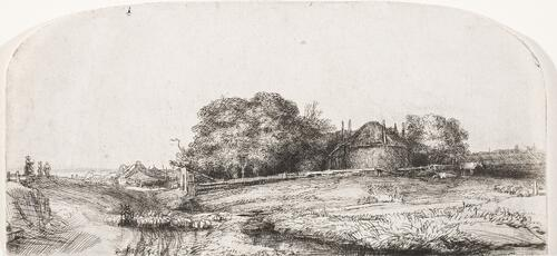 Landscape with a Hay Barn and a Flock of Sheep