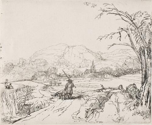 Landscape with Sportsman and Dogs (