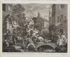 Hogarth, William - Four Prints of an Election: Chairing the Members