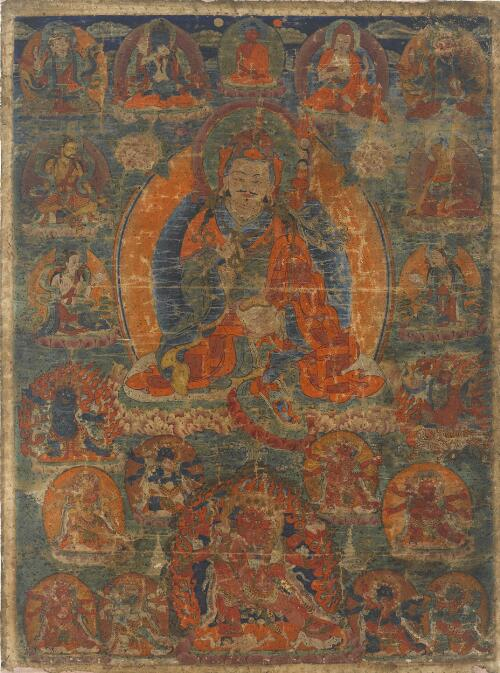 Padmasambhava with Wives and Emanations