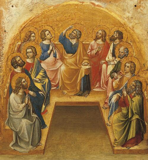 Coronation of the Virgin Altarpiece:  Pentecost