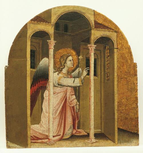 Coronation of the Virgin Altarpiece:  Angel of the Annunciation
