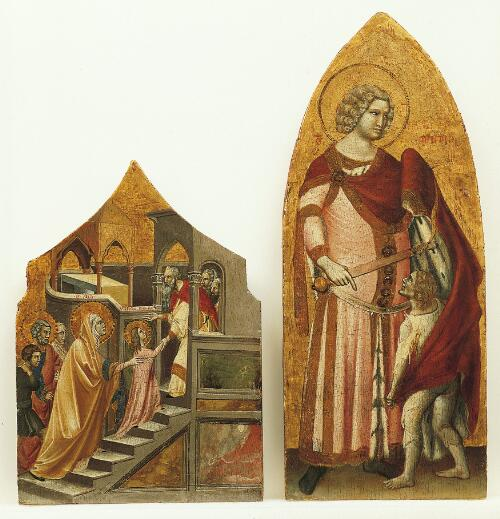 Coronation of the Virgin Altarpiece:  Saint Martin and the Beggar
