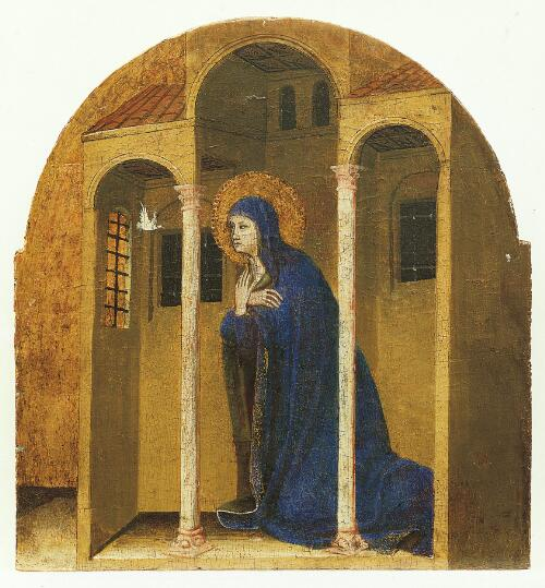 Coronation of the Virgin Altarpiece:  Virgin of the Annunciation