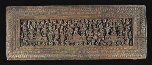 Book Cover with Buddha and Deities