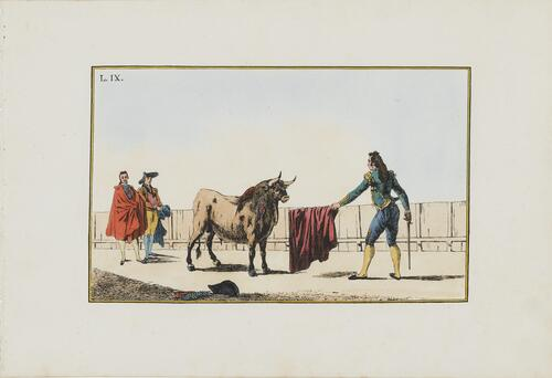 Collection of Principal Moves in a Bullfight: Presenting the Muleta to the Bull
