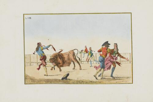 Collection of Principal Moves in a Bullfight: Making the Bull Turn with the Banderillas