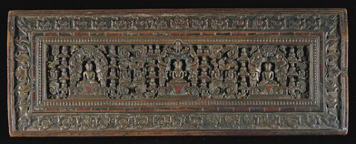 Book Cover with Buddhist Deities