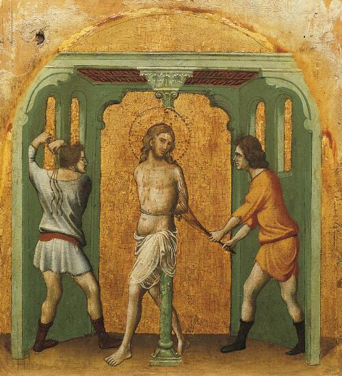Coronation of the Virgin Altarpiece:  Flagellation