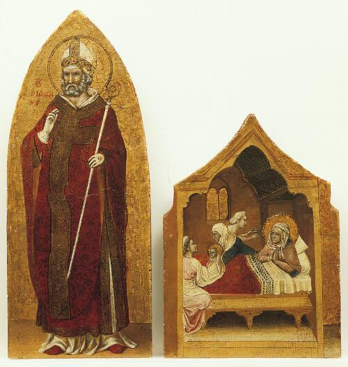 Coronation of the Virgin Altarpiece:  Saint Nicholas of Bari