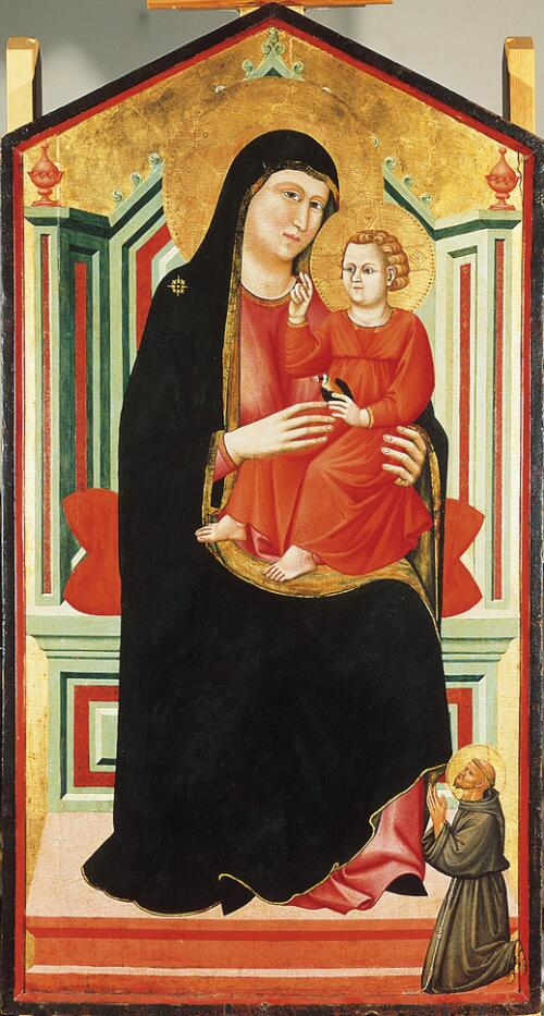 Madonna and Child Enthroned, with St. Francis