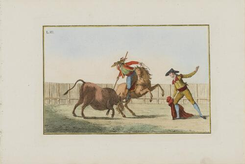 Collection of Principal Moves in a Bullfight: The First Pass with the Pic:  Spearing the Bull